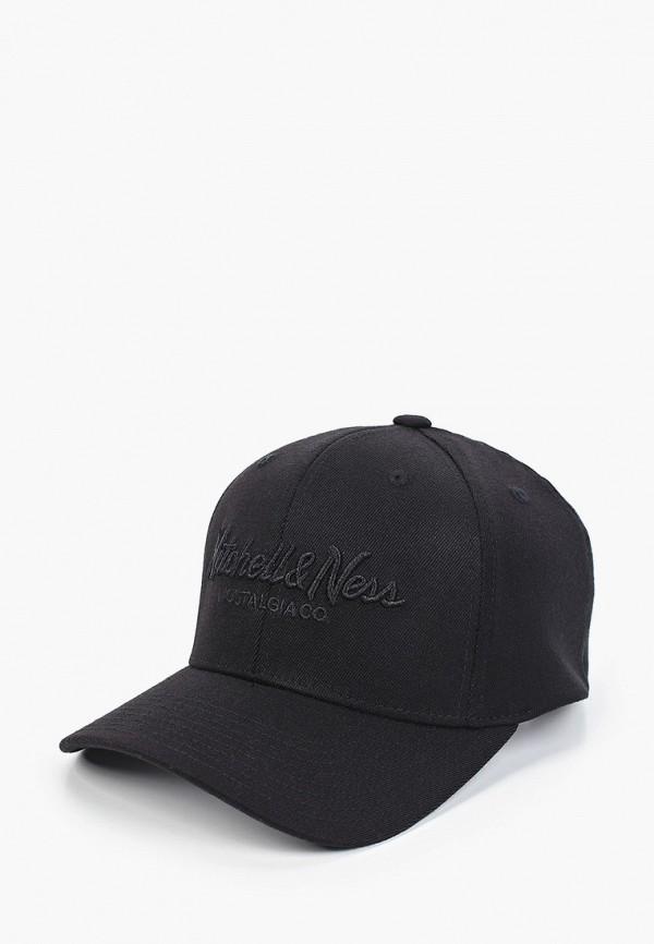 женская бейсболка mitchell & ness, черная