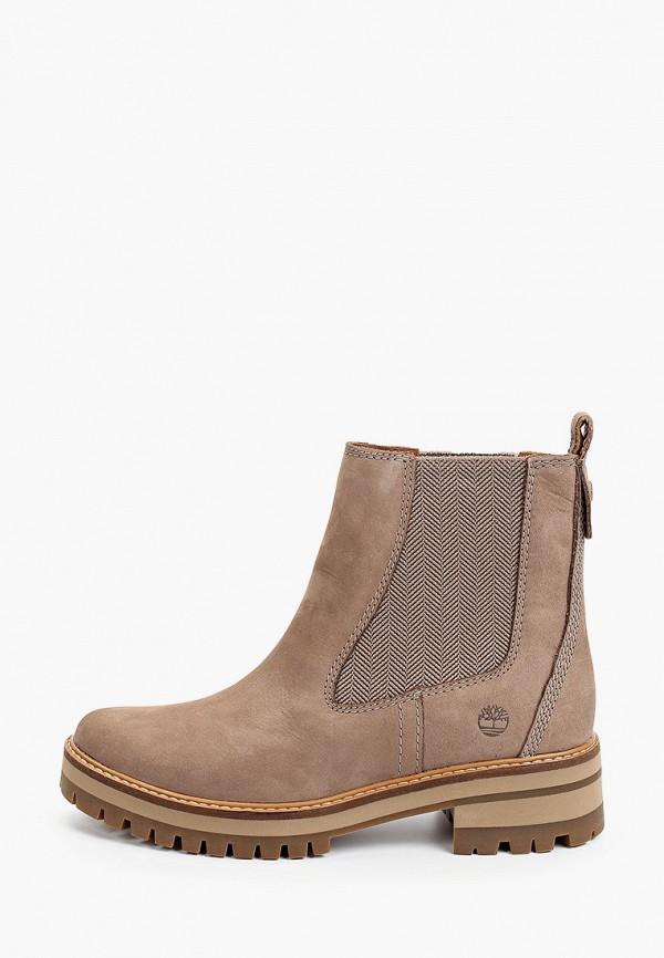 женские ботинки-челси timberland, коричневые