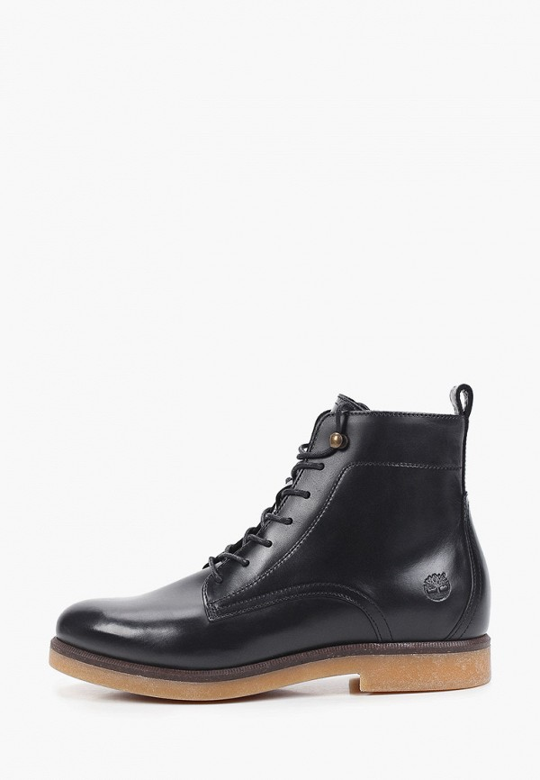 женские высокие ботинки timberland, черные