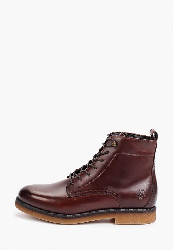 женские высокие ботинки timberland, коричневые