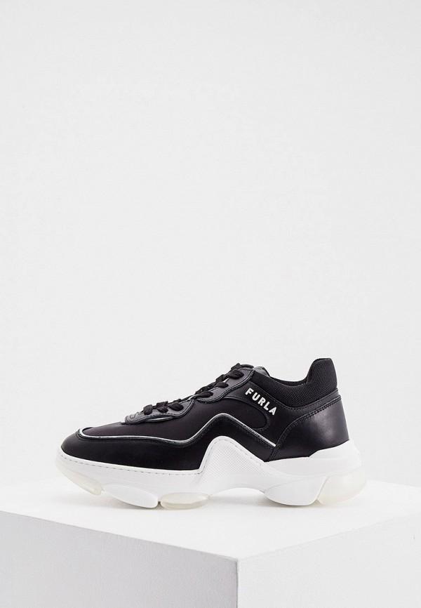 женские низкие кроссовки furla, черные