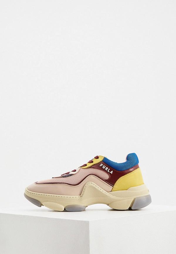 женские низкие кроссовки furla, разноцветные