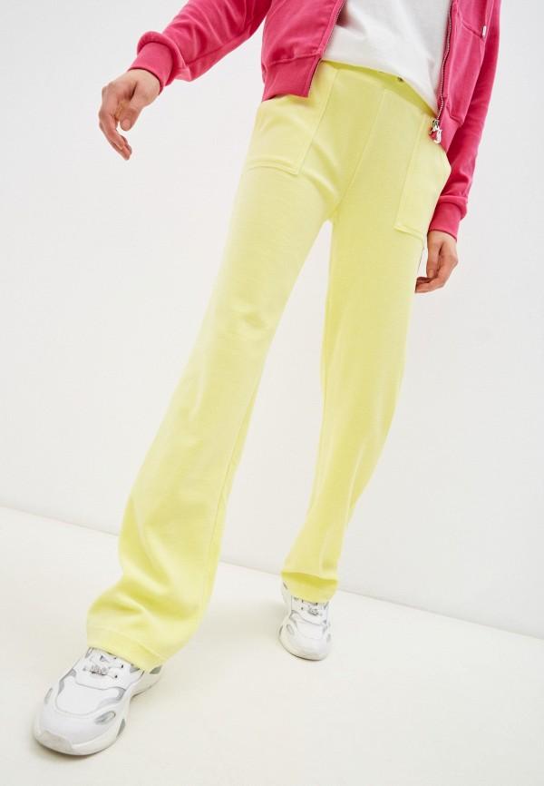женские спортивные брюки juicy couture, желтые