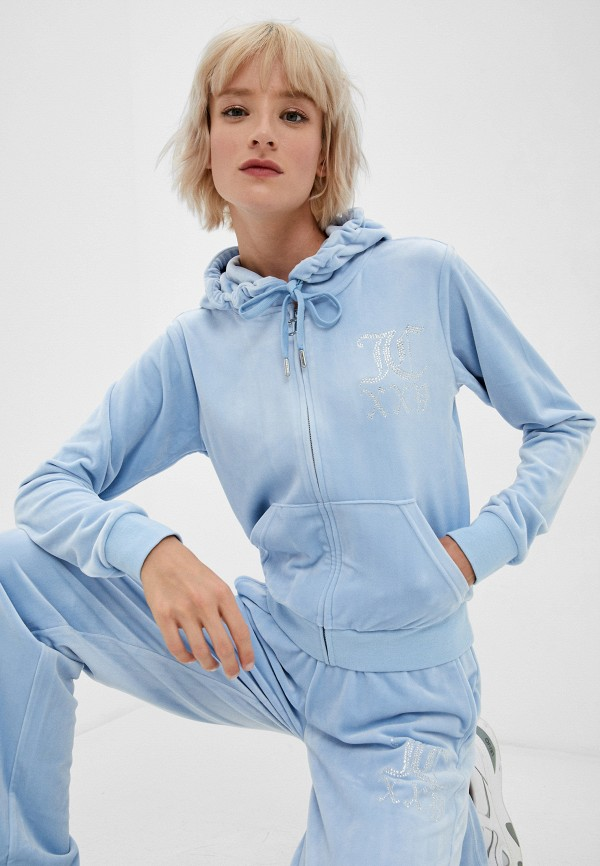 женская толстовка juicy couture, голубая