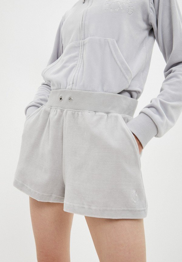 женские повседневные шорты juicy couture, серые