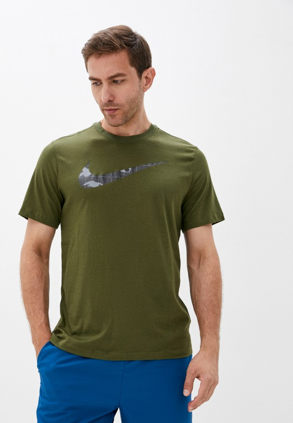 мужская футболка с коротким рукавом nike, хаки