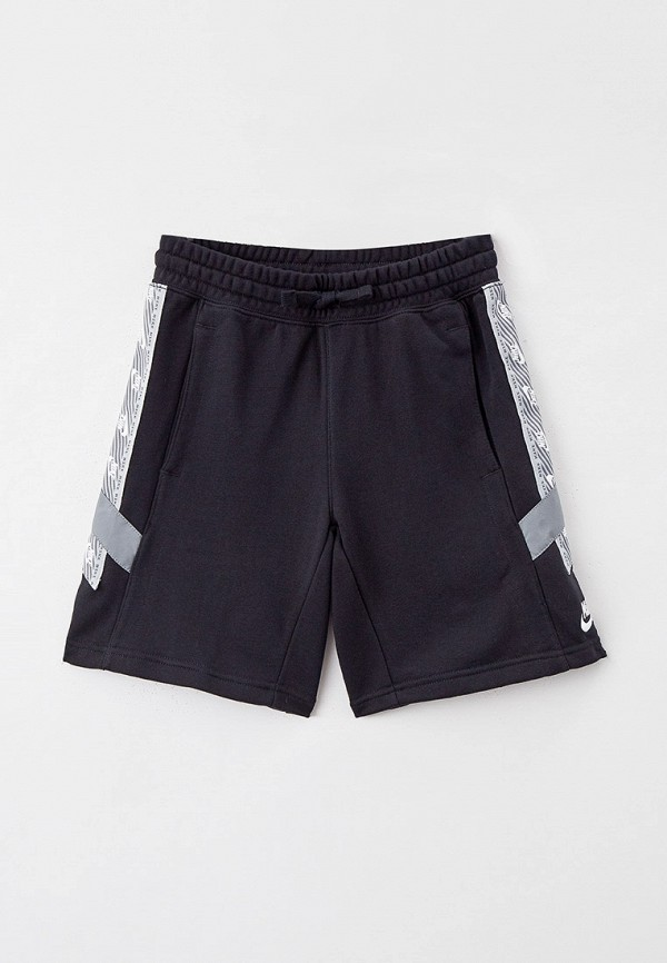 спортивные шорты nike для мальчика, черные