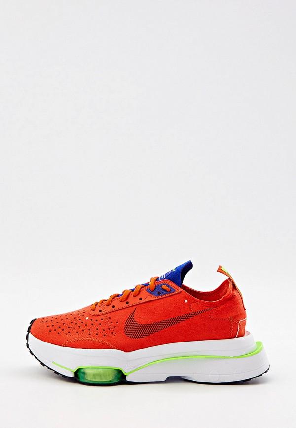 женские низкие кроссовки nike, оранжевые
