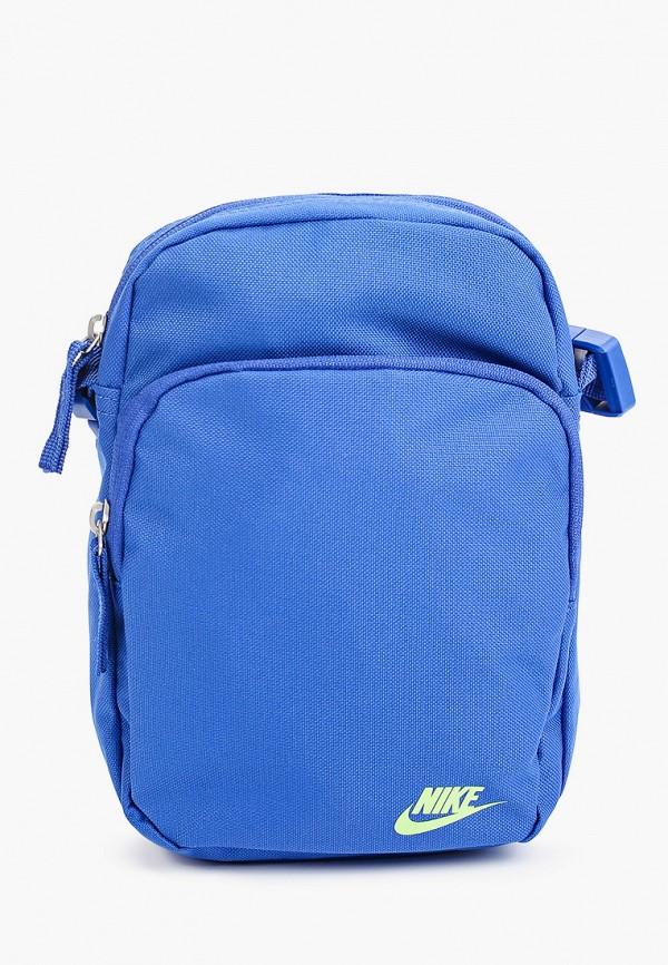женская сумка через плечо nike, синяя