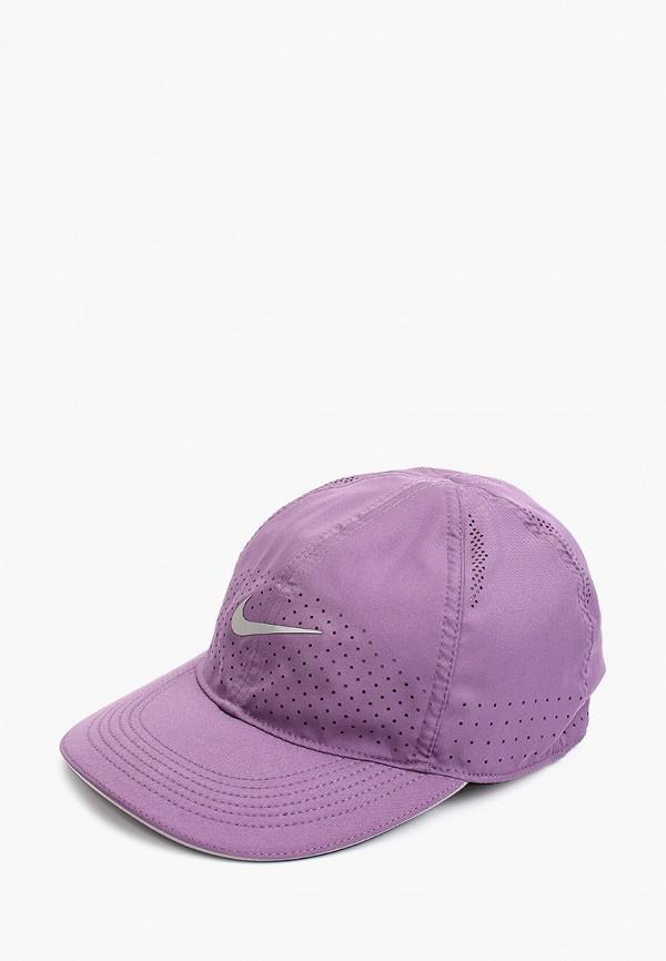 женская бейсболка nike, фиолетовая