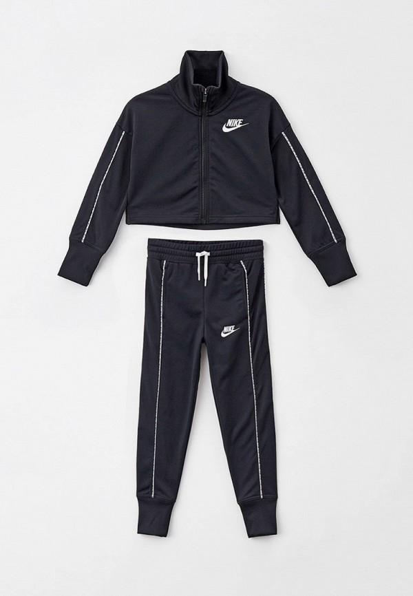 спортивный костюм nike для девочки, черный