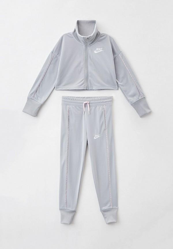 спортивный костюм nike для девочки, серый