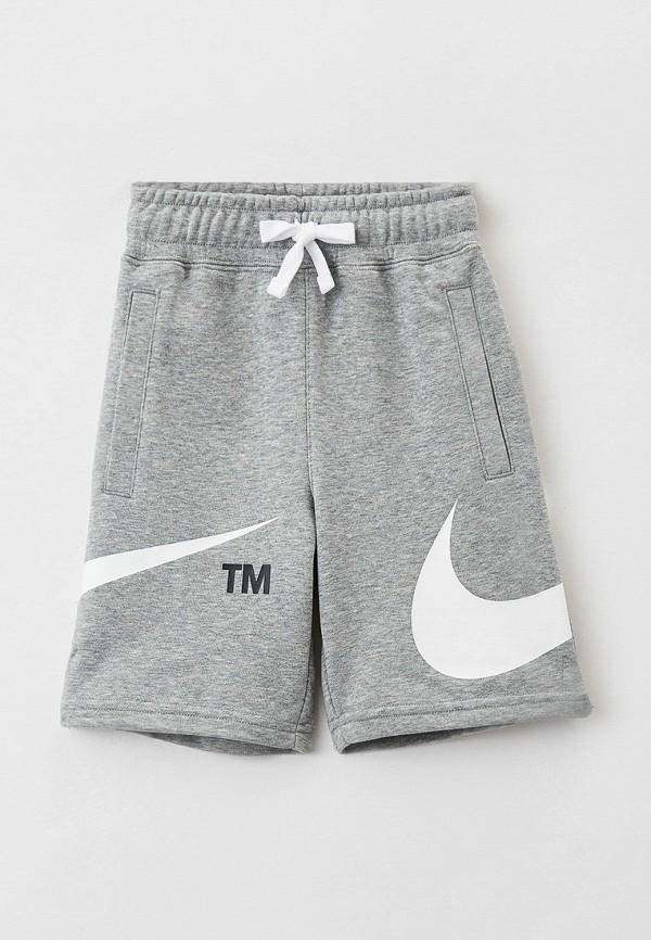 Шорты спортивные Nike серого цвета