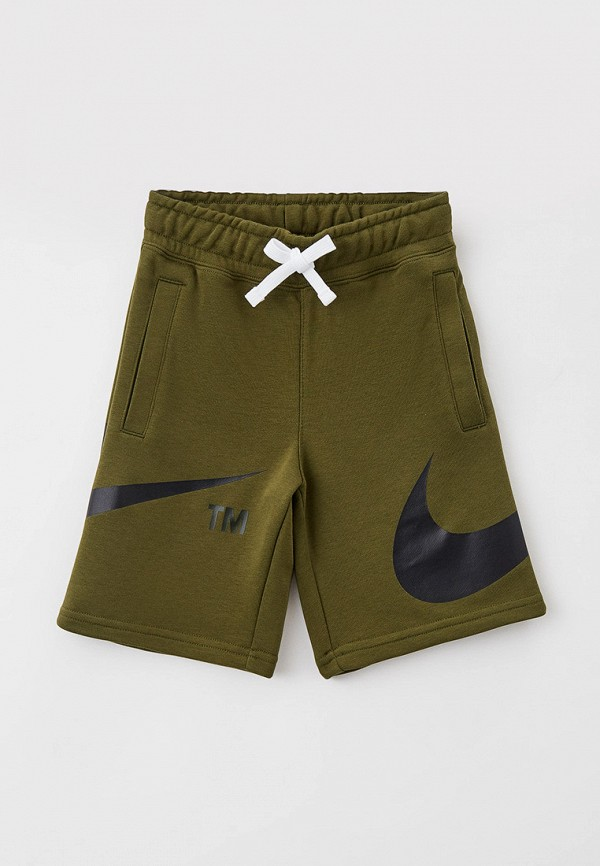 спортивные шорты nike для мальчика, хаки