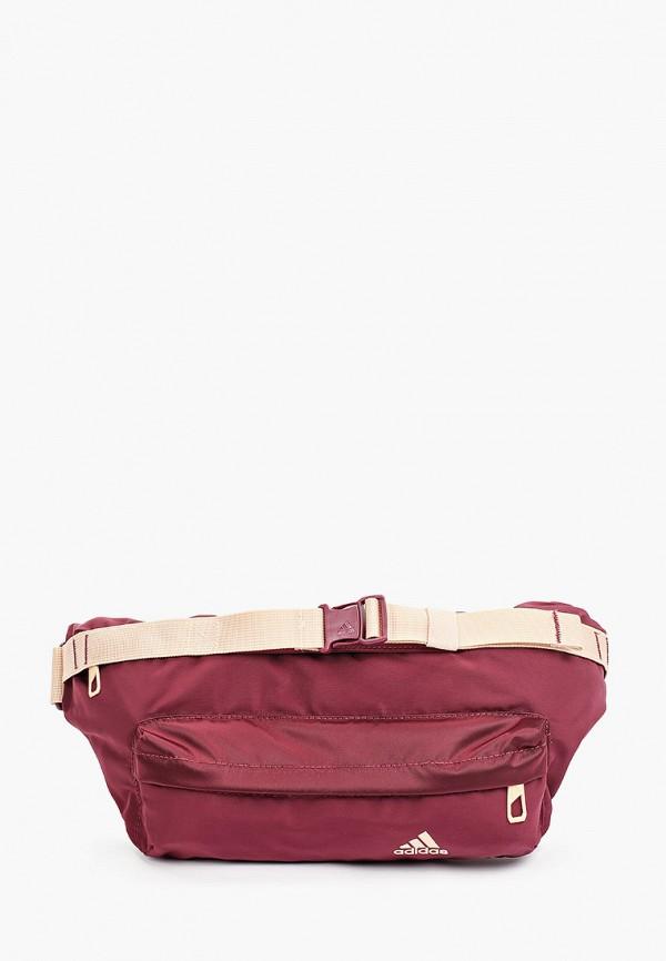 женская поясные сумка adidas, бордовая