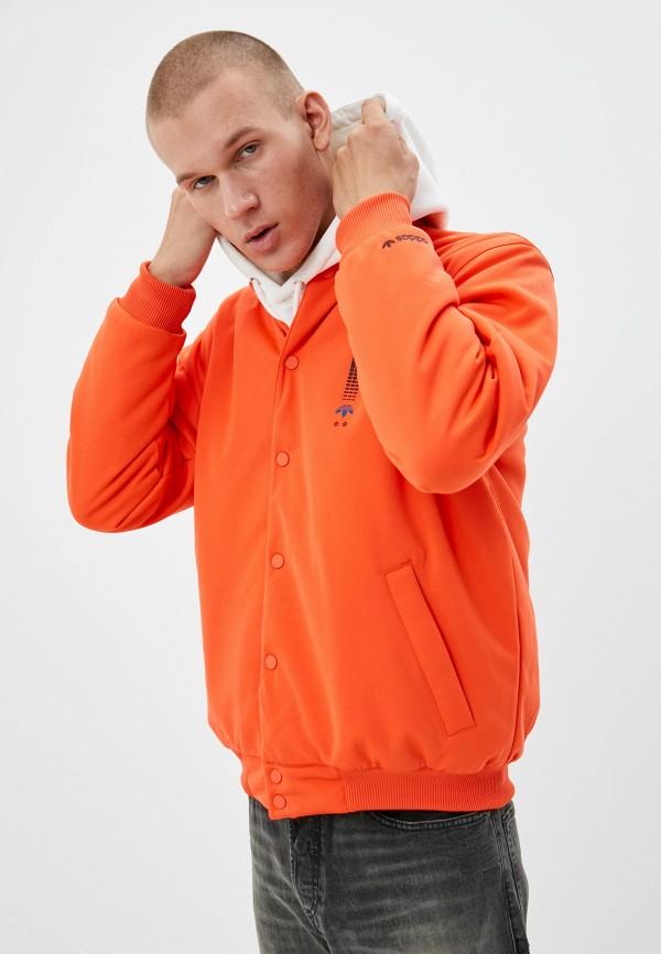 мужская куртка adidas, оранжевая