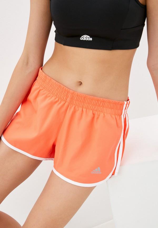 женские спортивные шорты adidas, оранжевые
