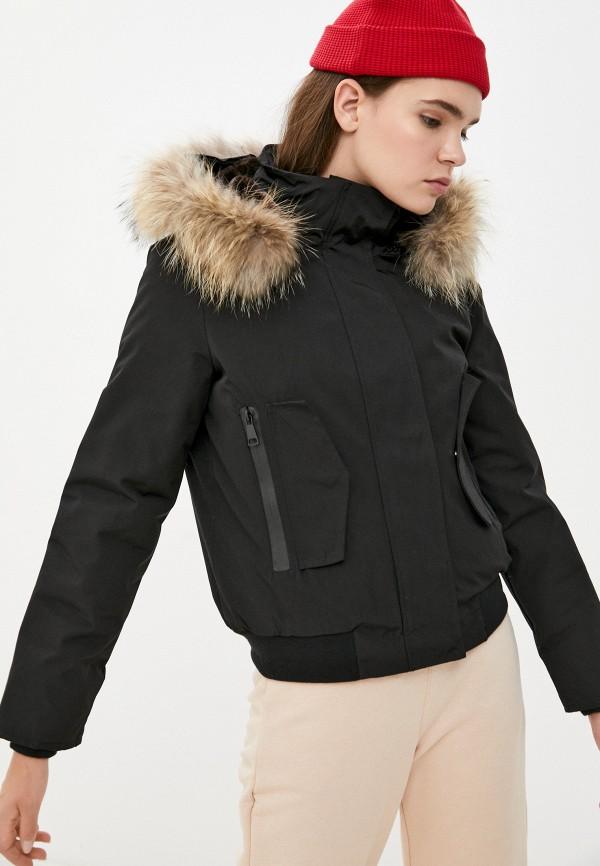 Куртка утепленная Macleria черного цвета