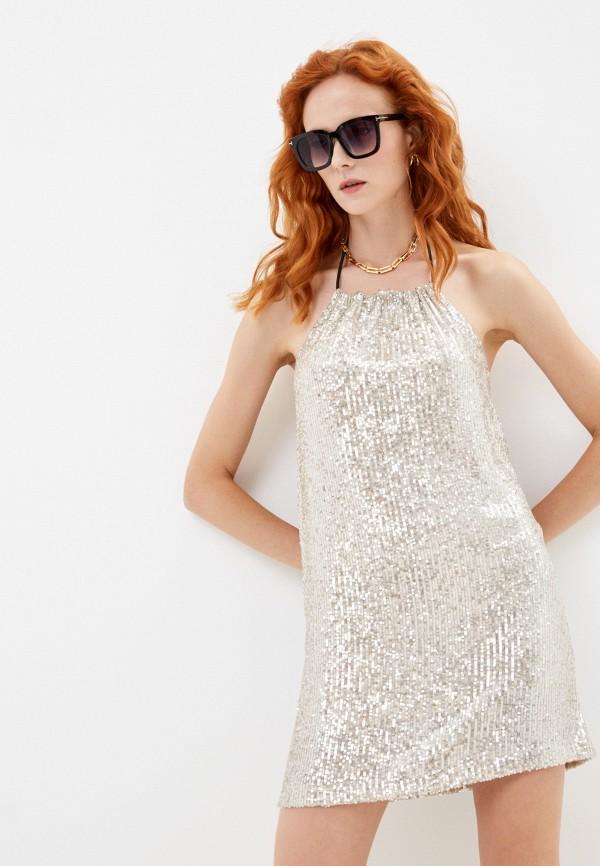 женское вечерние платье j.b4, золотое