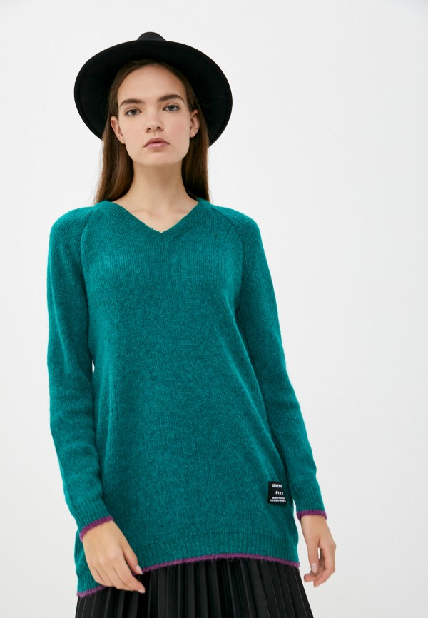 женский пуловер j.b4, бирюзовый