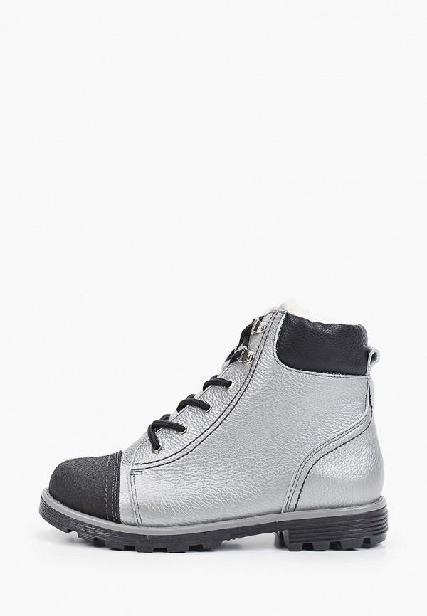 ботинки tapiboo для девочки, серебряные