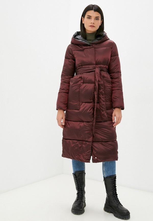женская утепленные куртка fragarika, бордовая