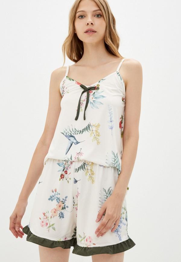 женская пижама rene santi, белая