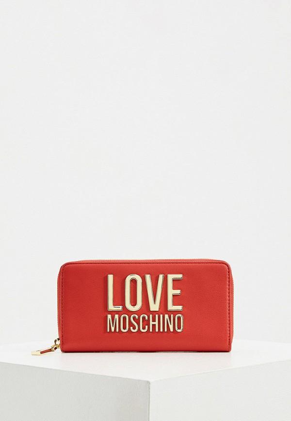 женский кошелёк love moschino, красный