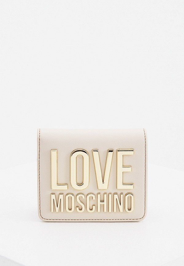 женский кошелёк love moschino, бежевый