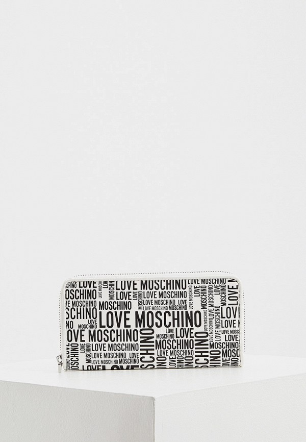 женский кошелёк love moschino, белый