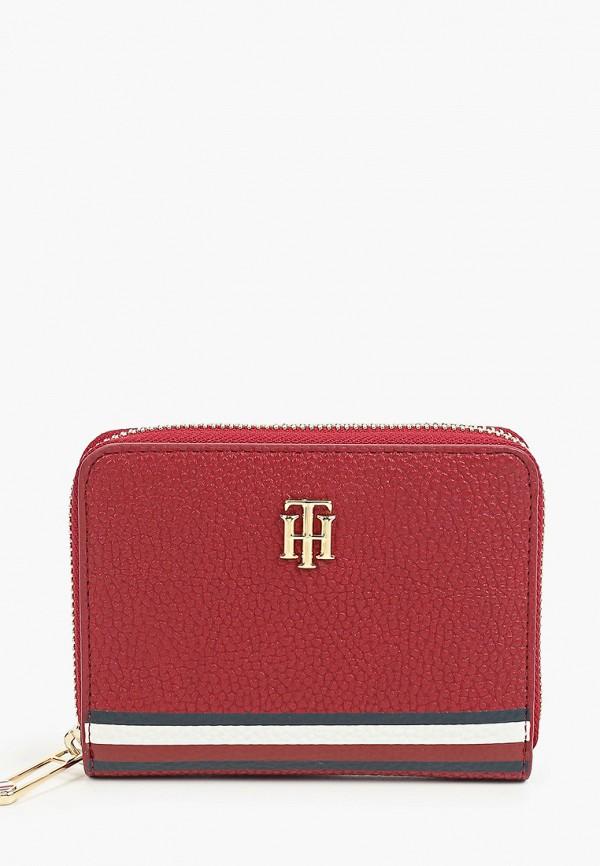 женский кошелёк tommy hilfiger, бордовый
