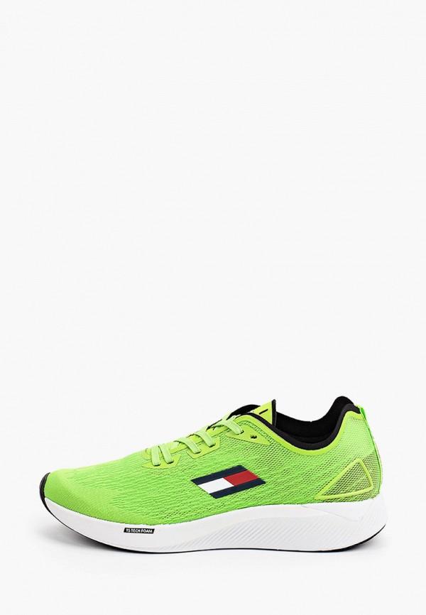 Кроссовки Tommy Hilfiger зеленого цвета