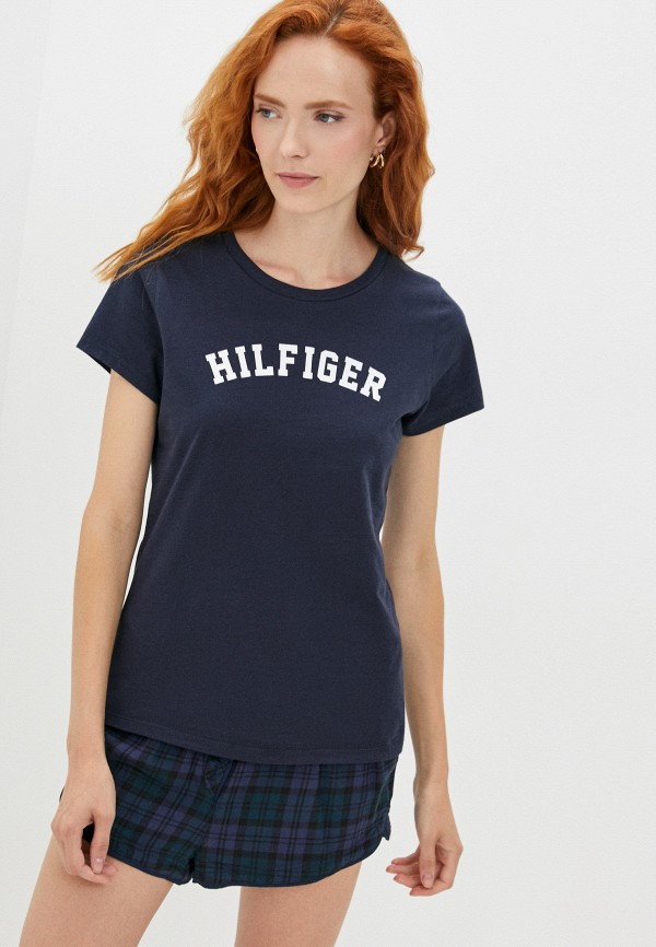 Футболка домашняя Tommy Hilfiger синего цвета