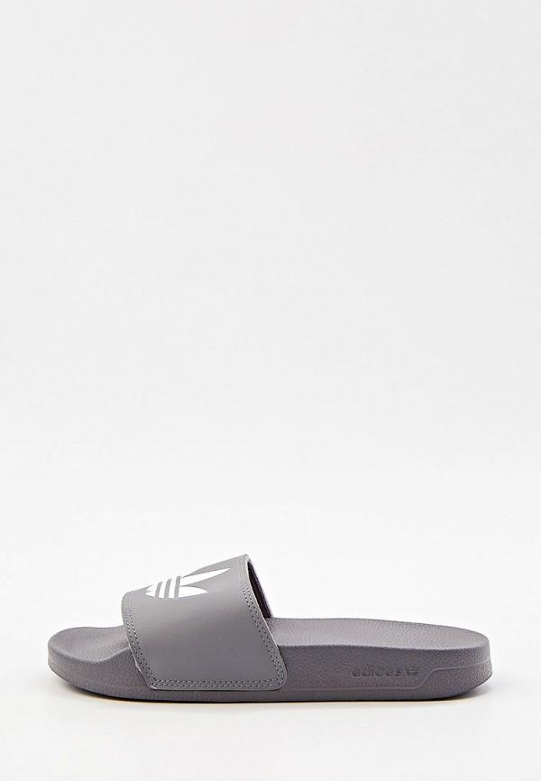 женские сланцы adidas, серые