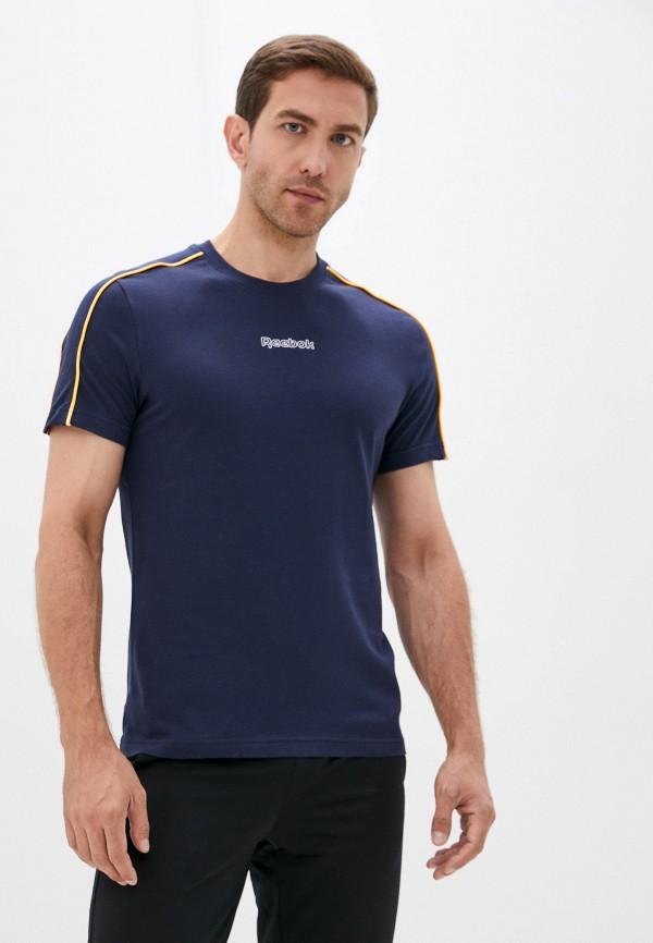 мужская футболка с коротким рукавом reebok, синяя
