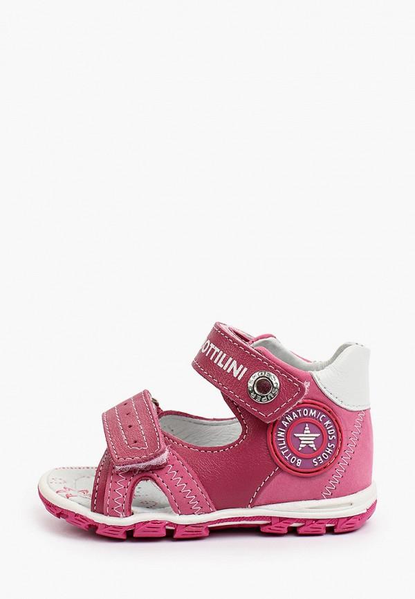 сандалии bottilini для девочки, розовые