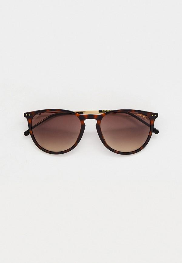 женские круглые солнцезащитные очки carrera, коричневые