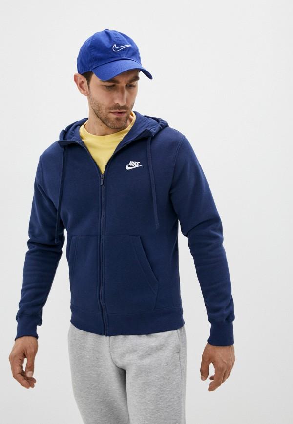 мужская спортивные толстовка nike, синяя