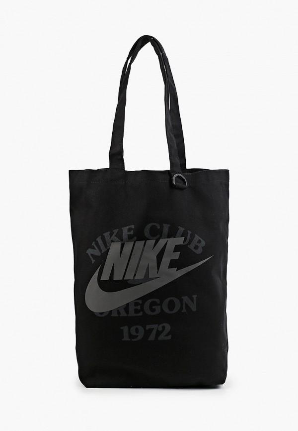 женская сумка-шоперы nike, черная