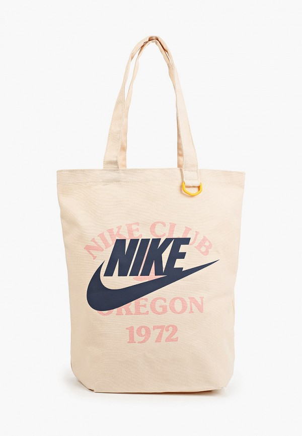женская сумка-шоперы nike, бежевая