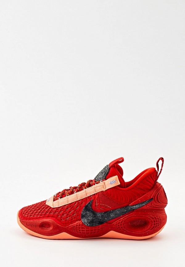 женские низкие кроссовки nike, красные