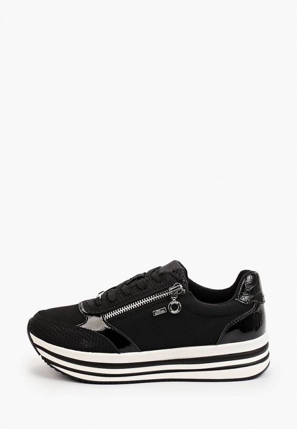 женские низкие кроссовки s.oliver, черные