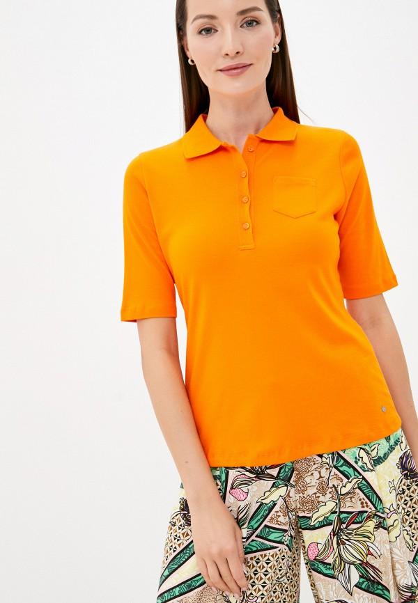 женское поло gerry weber, оранжевое