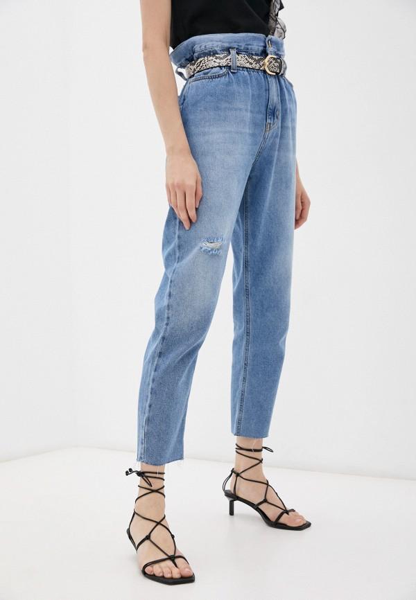 женские джинсы-мом liu jo, голубые