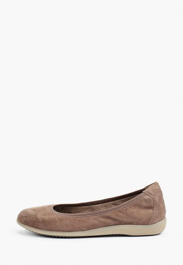 женские балетки tamaris, коричневые