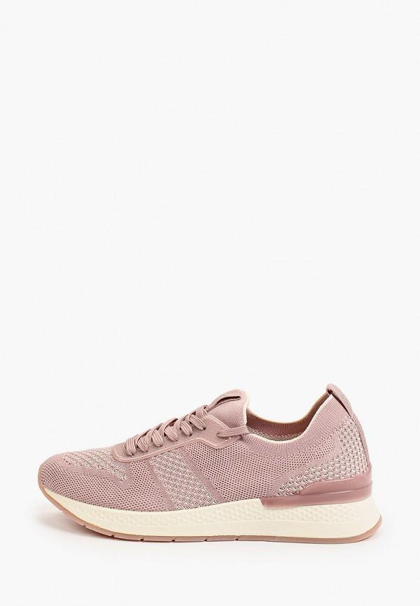 женские кроссовки tamaris fashletics, розовые