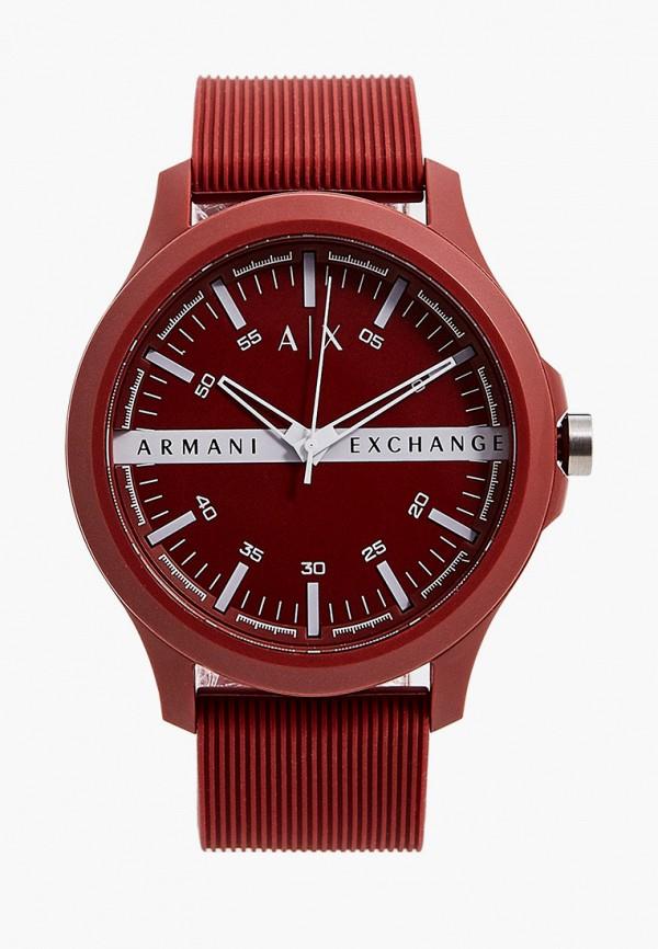 мужские часы armani exchange, бордовые