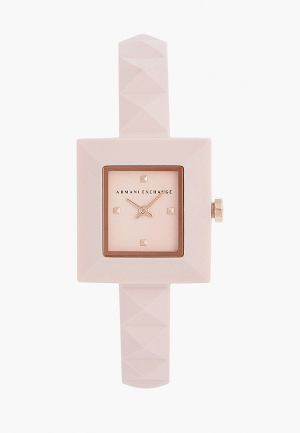 женские часы armani exchange, розовые