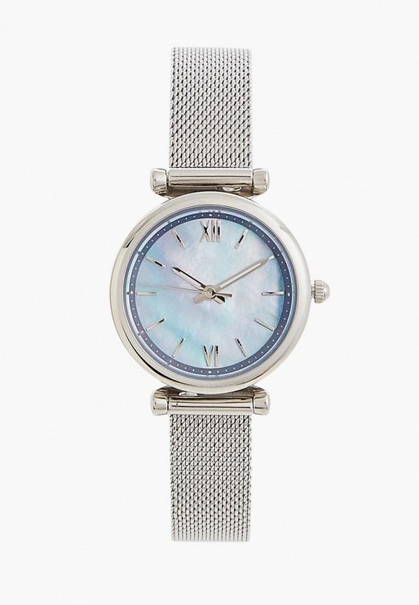 женские часы fossil, серебряные