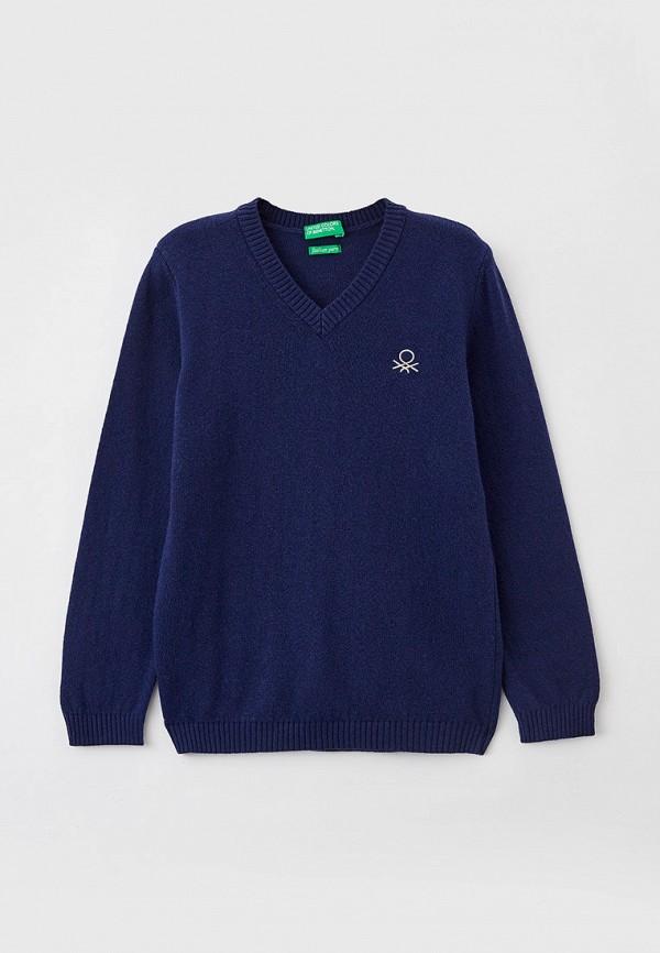 пуловер united colors of benetton для мальчика, синий